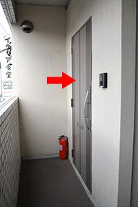 2階のこちらのドアです